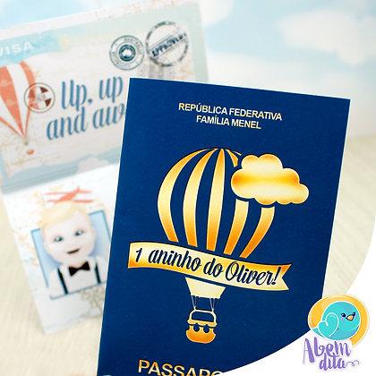 Convite - Passaporte - 20 unidades