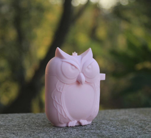 Pink Owl V2 AirPods Case