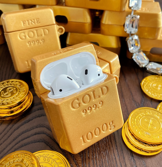 Gold Bar Glitter Airpods Case