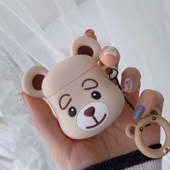 Cute Bear AirPods case