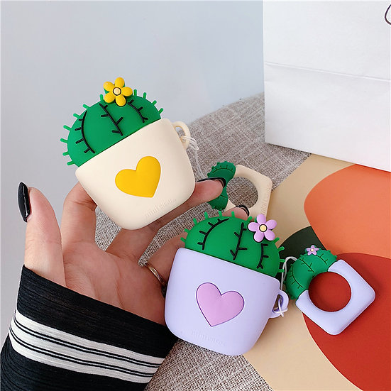 Cactus Heart AirPods case