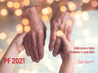 Poklidné svátky vánoční a pokud možno pohodovější rok 2021 přejí zaměstnanci Mezigeneračního centra