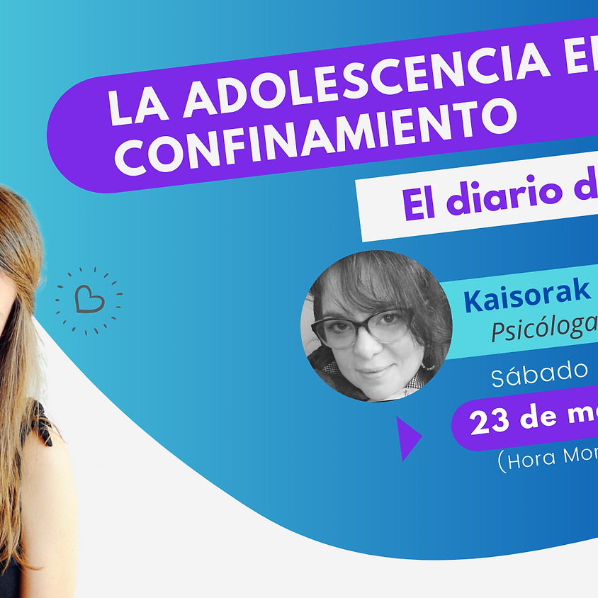 """La adolescencia en confinamiento """"El diario de Miriam"""""""