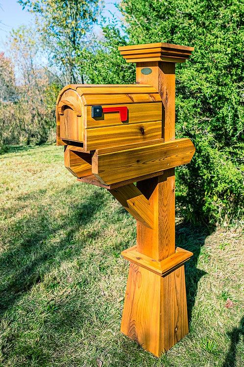 Single Stonehawk with Cedar Mailbox & Timber Oil