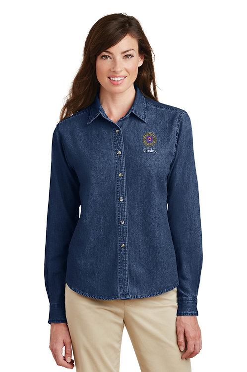 UNW Womens Long Sleeve Denim Shirt