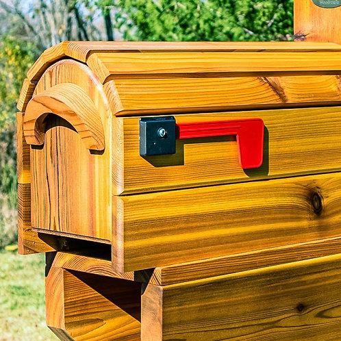 Cedar Wrapped Mailbox