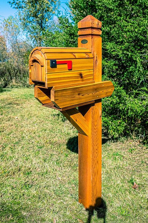 Single Brookston with Cedar Mailbox & Timber Oil
