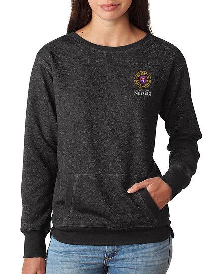 UNW J. America - Women's Glitter French Terry Sweatshirt
