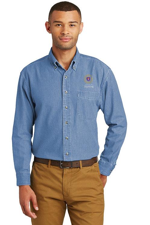 UNW Mens Long Sleeve Denim Shirt