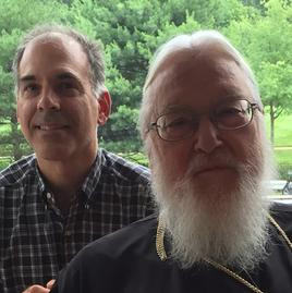 Michael Haldas with Metropolitan Kallistos Ware at Orientale Lumen XIX Conference in Washington, DC.