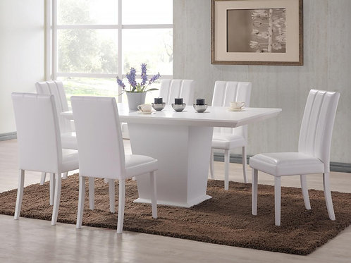 Feather Dining Set White 6 Trogon Chairs