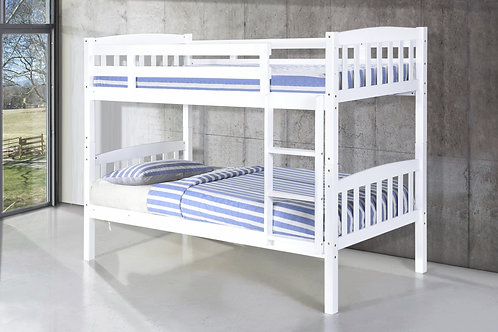 Ashbrook Solid Wood Bunk Bed White