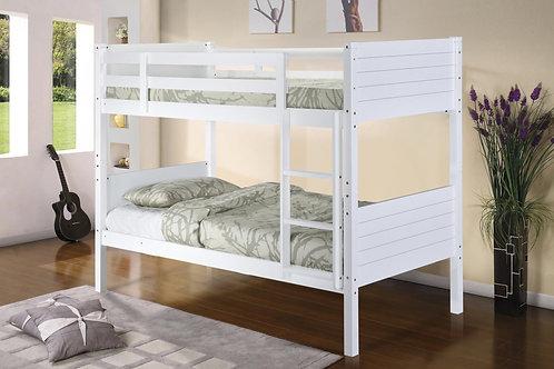 Castleton Solid Wood Bunk Bed White