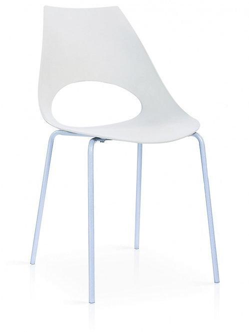 Orchard Plastic (PP) Chairs White with Metal Legs Chrome