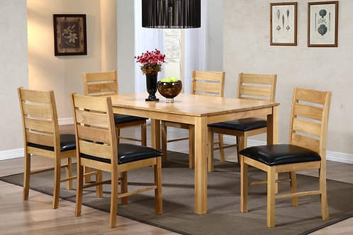 Fairmont Dining Set with 6 Chairs Natural