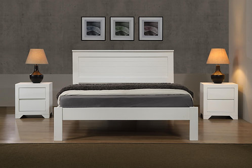 Etna King Size Bed White