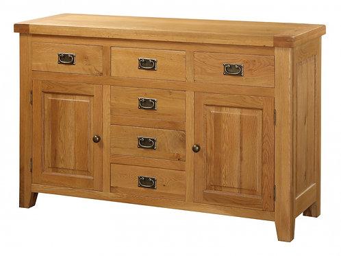 Acorn Solid Oak Sideboard Large 2 Doors & 6 Drawers