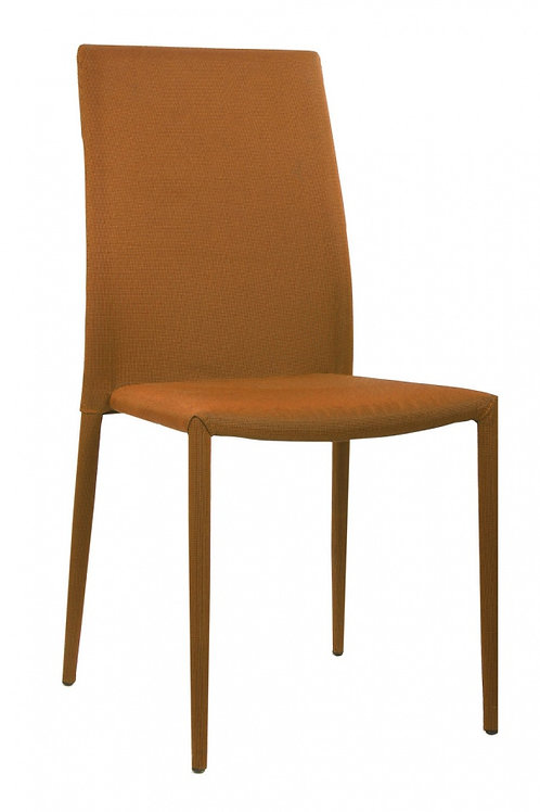 Chatham Fabric Chair Orange with Orange Metal Legs