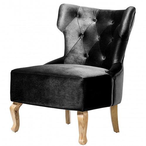 Norton Velvet Chair Black