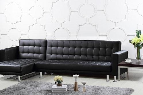 Hawthorn Corner Multi Functional Sofa Bed PU & PVC Black