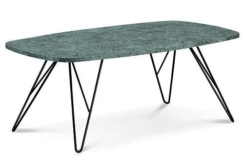 Mercia Coffee Table Stone with Black Metal Legs