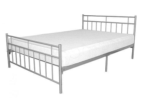 Davina Metal Bed 4 Foot Silver