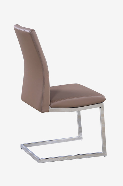 Azore PU Chairs Chrome & Cappuccino (2s)