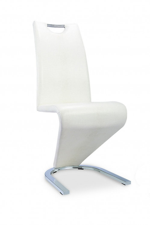 Kingsway Dining Chair Vintage PU White