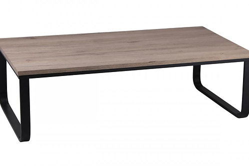 Felix Coffee Table Natural with Metal Black Painted Legs