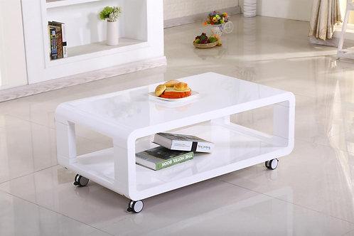 Cedar High Gloss Coffee Table White