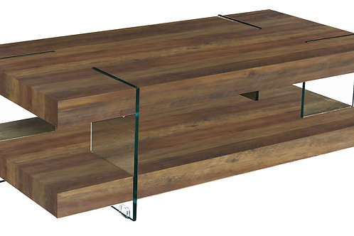 Redhill Coffee Table Oak Effect & Glass Legs