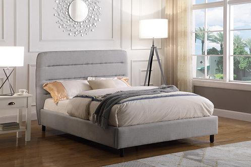 Malibu Velvet Double Bed Light Grey