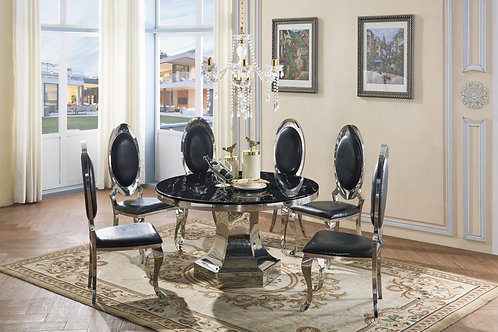 Vasto Marble Dining Set with 6 Chairs