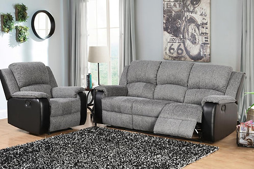 Earlsden Recliner Fabric and PU 3 Seater