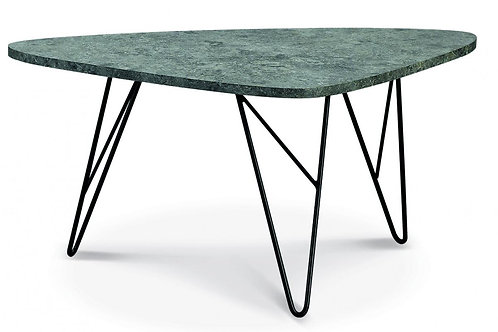 Ontario Coffee Table Stone with Black Metal Legs