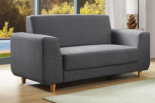 Fida Fabric 2 Seater Sofa Dark Grey