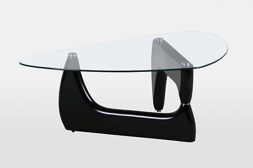 Paco Black High Gloss Coffee Table with Clear Glass Top