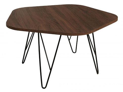 Tigris Coffee Table Walnut with Black Metal Legs