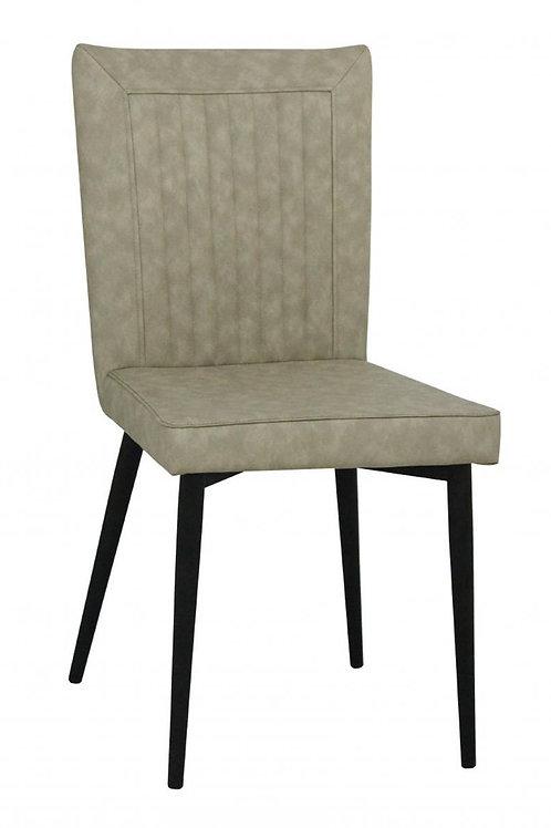 Hoskin PU Chair Taupe & Black