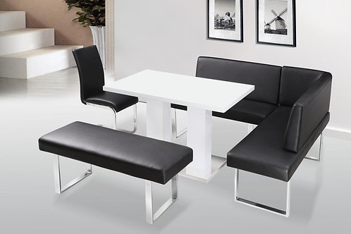 Liberty Dining Table White High Gloss