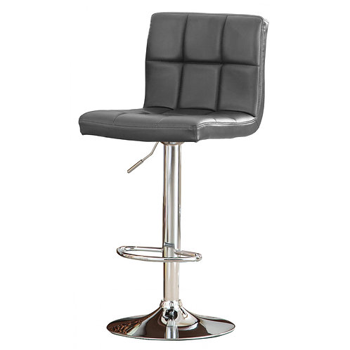 Cubik Bar Stool PU Chrome & Grey (2's)