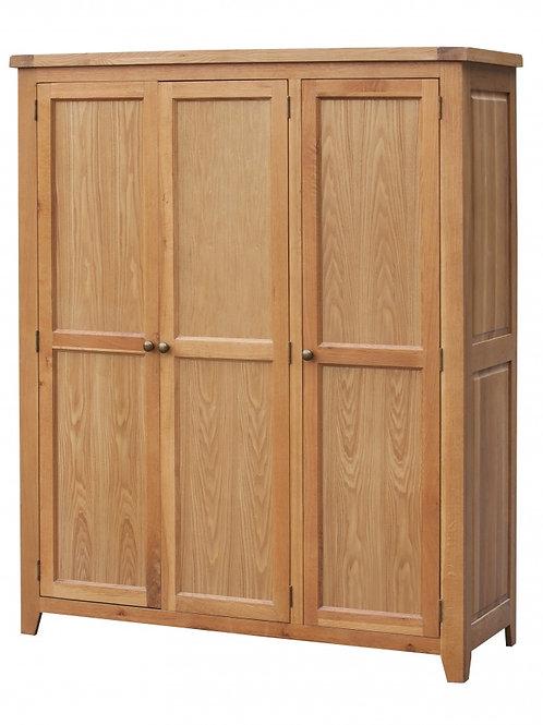 Acorn Solid Oak Wardrobe 3 Door Full Hanging