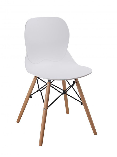 Karis Plastic (PP) Chairs with Solid Beech Legs White (4s)