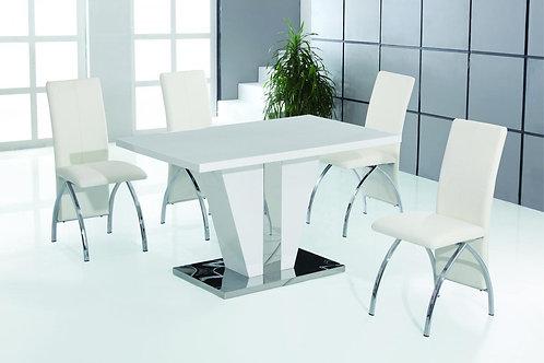 Costilla PU Dining Chair Chrome