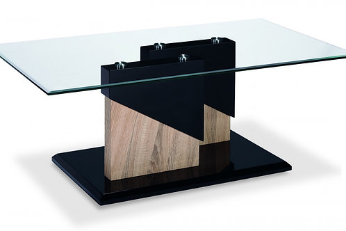 Coopers Glass Coffee Table Black & Natural