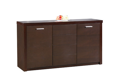 Baltic Sideboard with 3 Doors  Dark Walnut