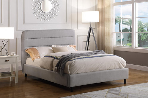 Malibu Velvet King Size Bed Light Grey