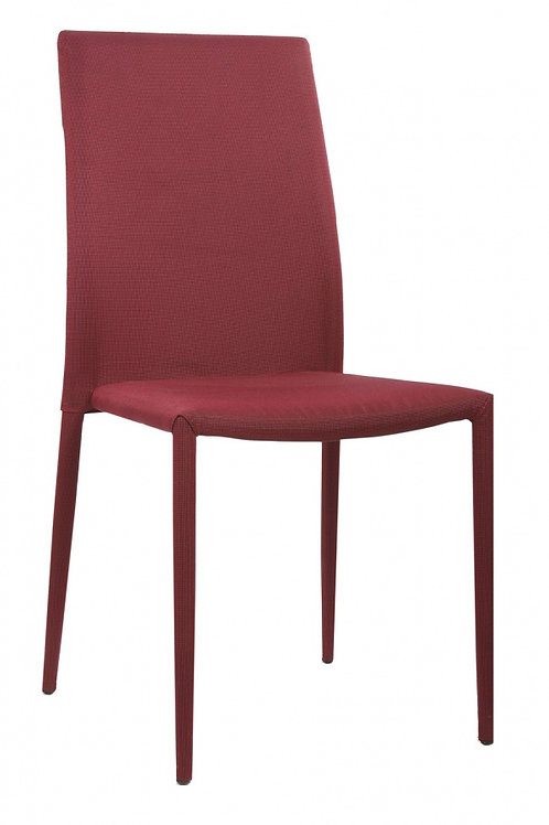 Chatham Fabric Chair Red with Red Metal Legs