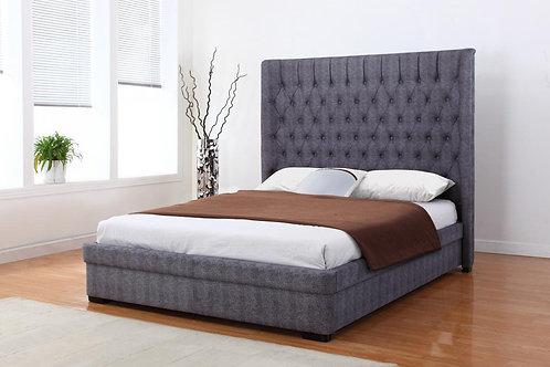Genesis Linen King Size Bed Dark Grey