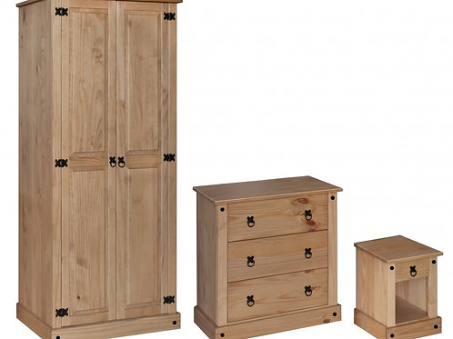 Amazon Trio Wardrobe, Chest & Bedside